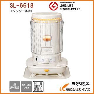 コロナ<SL-6618W>新発売 対流型石油ストーブ 2018年モデル ファンなし 燃焼継続時間10.9時間 ホワイト 白色 SL6618W SL−6618W【SL-6617W SL6617W SL-6616 SL6616W L66HW SL-66G SL-66H後継品 最安値挑戦 おしゃれ 対流式 災害 暖房器具 おすすめ 人気】