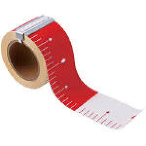 マイゾックス <HPR753> HPR-753 HPR?753 エコ「ピタッ!」とロッド 75mm幅×赤白30cm【テープロッド 赤白テープ エコピタッ エコぴたっ 現場工事 写真記録用 測量器具 測量機器 測量用品 おすすめ