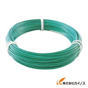 TRUSCO カラー針金 ビニール被覆タイプ 2.0mmX25m 緑 TCWM-20GN