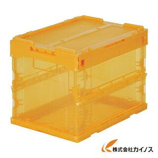 TRUSCO スケルコンオリコン20L(蓋付) オレンジ TR-SC20 OR