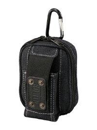 EDWIN(エドウイン)携帯ケース2ポケットタイプ黒カラビナ付<EDW-H203>