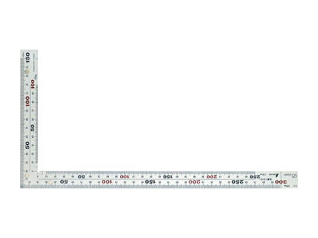 シンワ 曲尺 厚手広巾 シルバー 30cm 裏表同目 8段目盛 マグネット付 <10425> 【矩尺 かねじゃく かね尺 サシガネ 差し金 直角 定規 名前 diy 建築 物差し 物差し 角厚 小型 鯨尺 価格 スコヤ 角度 勾配 工具 測る 直角定規】