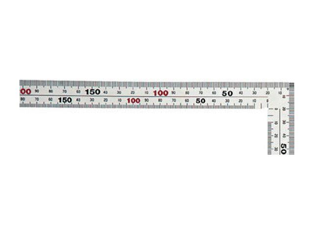 シンワ 曲尺 厚手広巾 シルバー 50cm 表裏同目 8段目盛 <11481> 【矩尺 かねじゃく かね尺 サシガネ 差し金 直角 定規 名前 diy 建築 物差し 物差し 角厚 小型 鯨尺 値段 スコヤ 新潟精機 角度 勾配 工具 測り方 測る 直角定規】