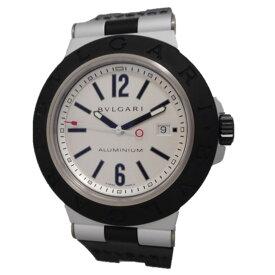 BVLGARI ブルガリ 腕時計 アルミニウム AL44TA シルバー系文字盤 ラバーベルト メンズ【質みなみ・千早駅前店】【質屋】 【中古】 Th849301