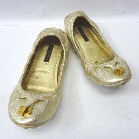 ルイ・ヴィトン 靴 ドライビングシューズ #34 ロゴ ゴールド CL1008【質みなみ・二又瀬店】【質屋】 LOUIS VUITTON 【中古】 Ft5421510