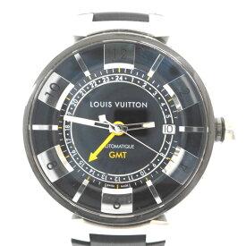 ルイ・ヴィトン 腕時計 タンブールGMT Q1131 黒文字盤 自動巻 替えベルト付【質みなみ・到津店】【質屋】 LOUIS VUITTON 【中古】 ID16061