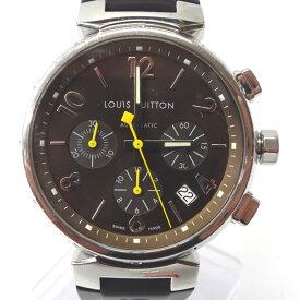 ルイ・ヴィトン 腕時計 タンブール クロノグラフ Q1121 ブラウン文字盤【質みなみ・二又瀬店】【質屋】 LOUIS VUITTON 【中古】 Ft549761
