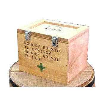 大人気 お洒落 かわいい セキュリティボックス 救急箱  キュアメイト ファマシーボックス 人気インテリア カントリー雑貨 ナチュラル雑貨★(新品)★木製 小物入れ!コスメBOX 色々お使いいただけます!