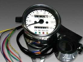 【ミニモト】スピードメーター・140km/h・60パイ ホワイト カスタムパーツ NO0996