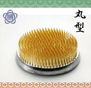 【新潟三条の剣山】ハナカツ 真鍮針・丸型剣山 品番109 新特大丸 (97mm) ゴム付