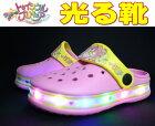 光るサンダルスタートゥインクルプリキュアキッズサンダルクロックサボ子供靴7510水陸両用女の子キャンプアウトドアピンクサックス15cm16cm17cm18cm19cmフラッシュ