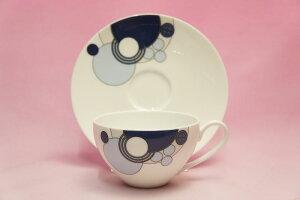 ティー・コーヒー碗皿◆インペリアルブルー【フランク・ロイド・ライト デザイン テーブルウェア】(ノリタケWT94989/1701)