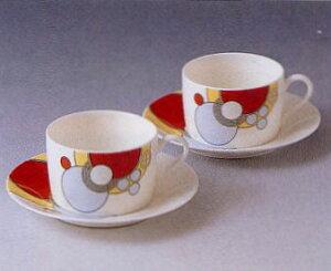 ティー・コーヒー碗皿ペアセット◆フランク・ロイド・ライト デザイン テーブルウェア(ノリタケP97282/4614)