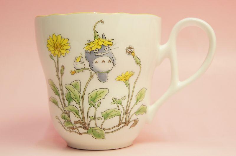 となりのトトロ マグカップ(花帽子)◆ノリタケボーンチャイナ・TT97855/4924-7