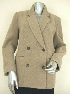 / Pasadecoco ★ ☆ new similar ★ PASA DE COCO! beige! thick wool * adult jacket 9 / M / 38 ★ ladies ★ vintage ★ used ★ ★ ★ ★ ★ 05P07Nov15