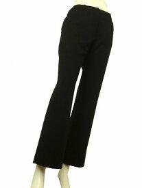 【中古】レオナール LEONARD 黒系 ブラック系 美脚スタイル 大人ロング美パンツ 9号 レディース ボトムス