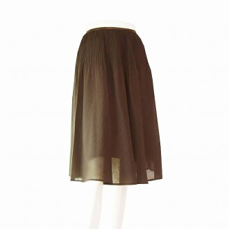 ★Suite / tea / wool blend / translucency material / wonderful pleated skirt / small size /1 (7 *S size equivalency) spring and summer / Lady's