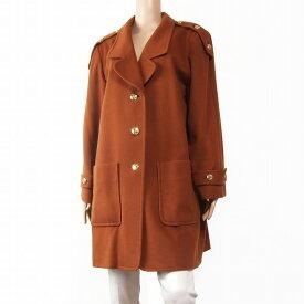 【中古】レマロン remalon カシミヤ混ウールコート 大きいサイズ 17号(4Lサイズ相当) 茶 ブラウン 秋冬向け レディース アウター