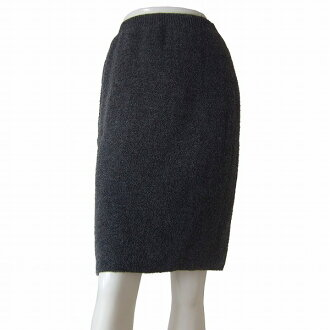 In the fall and winter bottoms Lady's for screw Kay BC size (7 /S size equivalency) グレーモヘヤ blend bulky knitting where a knit skirt is small plumply