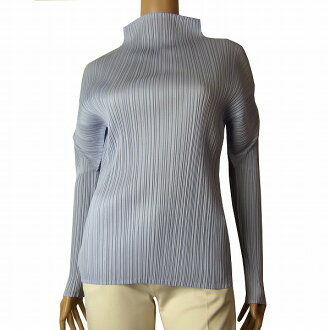 In autumn in the spring and summer tops Lady's for pleats please PLEATS PLEASE delicate pleats cut-and-sew (2/3 size equivalency) light blue