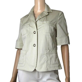 In the spring and summer outer Lady's for マレーラ MARELLA Max Mara military jacket table 44 sign (11 /L size equivalency) beige