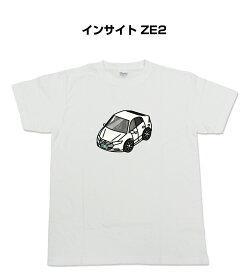Tシャツ カスタマイズTシャツ シンプル 車特集 ホンダ インサイト ZE2 送料無料