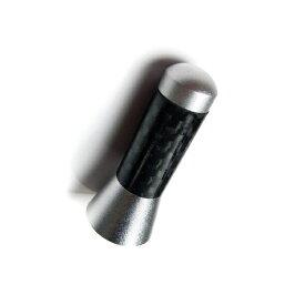 【送料無料】スーパーショートアンテナ シルバーカーボン 汎用品 【35mm [3.5cm]】