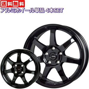 (アルミホイール単品4本セット)16インチ 軽量 G.speed G-03 メタリックブラックコンパクトカー用(アクア/ヴィッツ/ヤリス/ノート/マーチ/フィット/デミオ/スイフト)