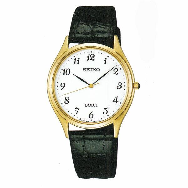 セイコー ドルチェ SACM172 男性用 腕時計 電池時計 革バンド SEIKO DOLCE メンズ 紳士用 名入れ刻印対応、有料 取り寄せ品 【コンビニ受取対応商品】