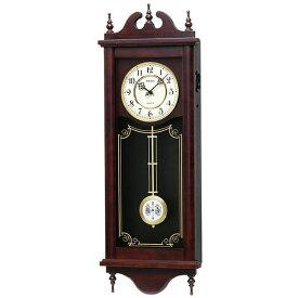 木枠 柱時計 セイコー 電子音チャイム 振り子 木製 ふりこ 掛時計 RQ309A 壁掛け時計 SEIKO 文字入れ対応、有料 取り寄せ品