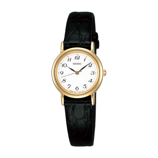 腕時計 レディース セイコー SEIKO 電池式 黒色系革バンド SSDA030 【名入れ刻印対応、有料】 【取り寄せ品】