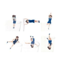 コップのフチに舞い降りた天使 コップのフチ子5(ファイブ) ネイビー ノーマル6種 制服:紺奇譚クラブ OL人形コレクションフィギュア