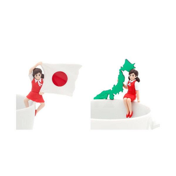 【期間限定】特価商品!コップのフチのジャポニズムコップのフチ子 JAPAN(ジャパン)より2種奇譚クラブ OL人形ガチャポン ガシャポン ガチャガチャ