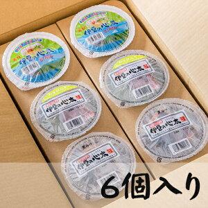ところてん食べくらべセット 丸カップ6ヶ入り(三杯酢プレ-ン、黒みつ、わさび)