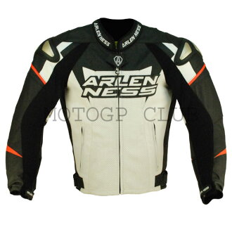 Super SALE ARLENNESS Allen Ness magnesium kangaroo leather jacket 10634 BLACK/RED season