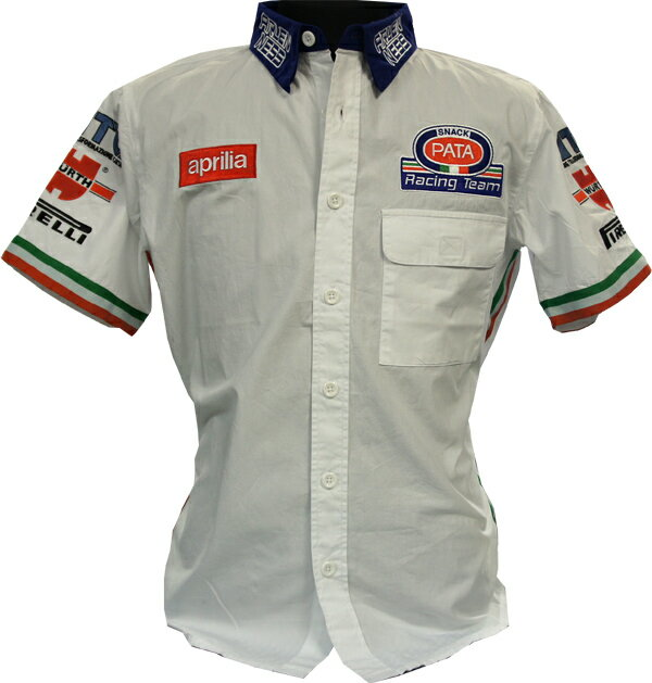 APRILIA PATA RACING TEAM PIT SHIRT 刺繍ロゴ入チームピットシャツ S-9485-DFX