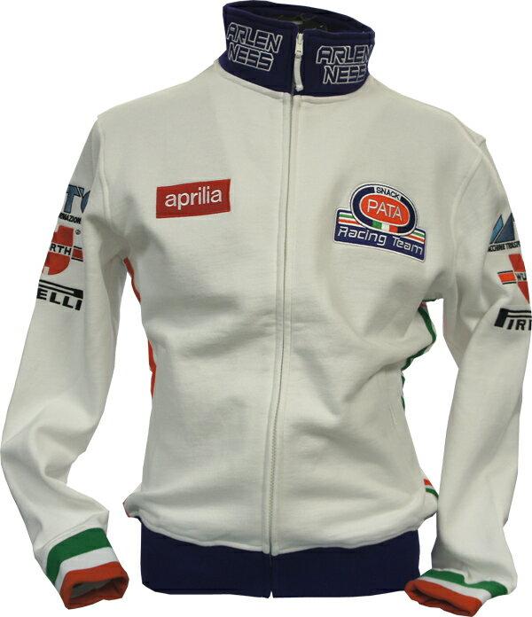 APRILIA PATA RACING TEAM ZIP SWEAT 刺繍ロゴ入チームzipスウェット S-9484-DFX