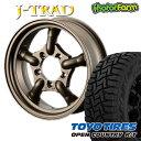 J-TRAD マットブロンズ 16×5.5J/5H+20 トーヨー オープンカントリー RT185/85R16 ( toyo tires open country ラギッ…