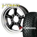 タイヤ ホイール 4本セット ファーム オリジナル J-TRAD DCリム グロスブラック 16×5.5J/5H-25 ヨコハマ ジオランダー MT G003 ...