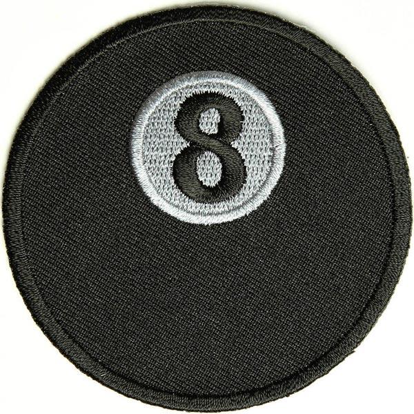 ビリヤード 8ボール アイロン パッチ Billiards 8Ball Iron Patch