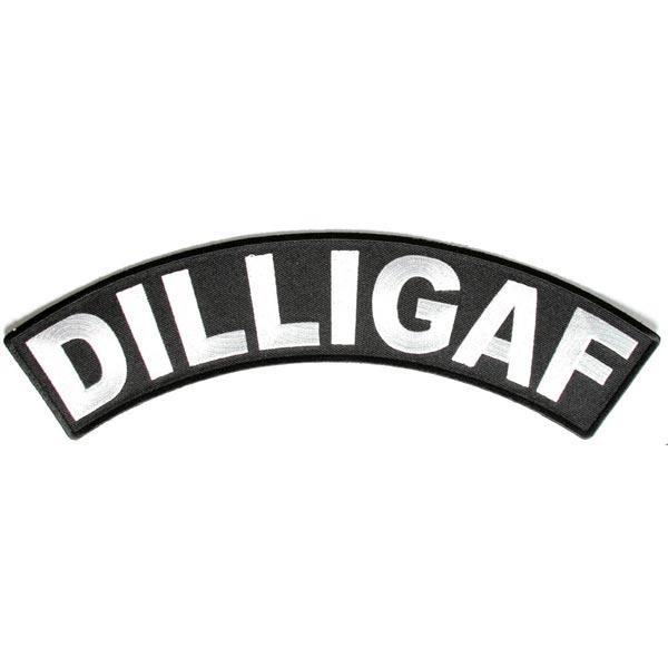 DILLIGAF 大型 メッセージ アイロン パッチ DILLIGAF Message Iron Patch