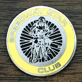 スピードウェイ スター クラブ ピンバッジ イエロー SPEEDWAY STAR CLUB Pin Yellow