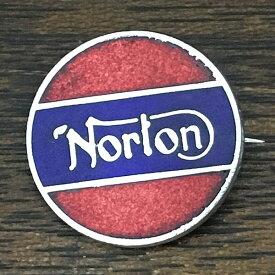 ノートン ビンテージ ピンバッジ レッド/ネイビー Norton Vintage Pin Red/Navy