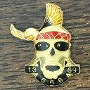 スカル 13 69 666 ビンテージ ピンバッジ Skull Vintage Pin