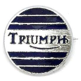 トライアンフ ビンテージ ピンバッジ シルバー/ネイビー Triumph Vintage Pin Silver/Navy