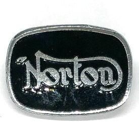 ノートン ビンテージ ピンバッジ ブラック/シルバー Norton Vintage Pin Black/Silver