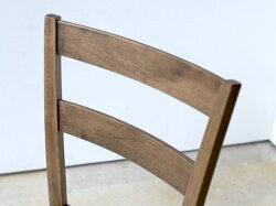 【2脚セット】ダイニングチェアラバーウッド木製ナチュラルブラウンMTS-061