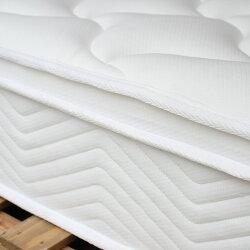 ポケットコイルマットレスプレミアムセミダブルピロートップマットレスMTS-074マット真空圧縮コンパクト梱包ベッド寝具