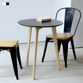 カフェテーブル ミニテーブル ミニマム サイドテーブル BK WH ラウンドテーブル 丸テーブル 木製 φ60 600mm MTS-145