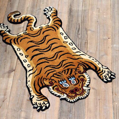 チベタンタイガーラグ DTTR-01/ラージ Tibetan Tiger Rug DTTR-01 / Large 331601L DETAIL INC.